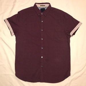 Denim & Flower Ricky Singh ss medium shirt maroon